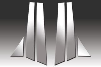 Mirror Finish Stainless Steel Pillar Post 6-Pc 2009 - 2016 Audi A4