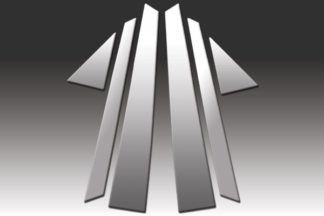 Mirror Finish Stainless Steel Pillar Post 6-Pc 2005 - 2011 Audi A6