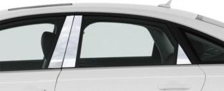 Mirror Finish Stainless Steel Pillar Post 6-Pc 2012 - 2016 Audi A6