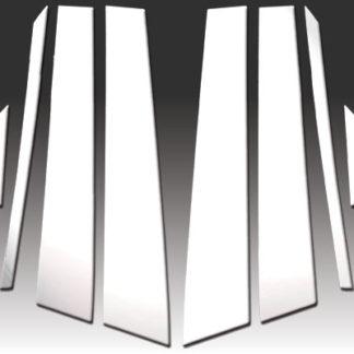 Mirror Finish Stainless Steel Pillar Post w/ Diagonal Extension 8-Pc 2011 - 2016 Audi A8