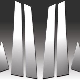 Mirror Finish Stainless Steel Pillar Post 6-Pc 2010 - 2016 Audi S4