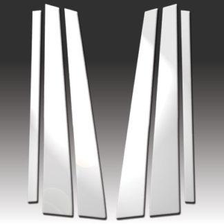 Mirror Finish Stainless Steel Pillar Post 6-Pc 1989 - 1995 BMW 5-Series-E34