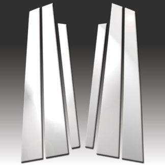 Mirror Finish Stainless Steel Pillar Post 6-Pc 1996 - 2003 BMW 5-Series-E39