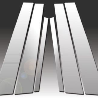 Mirror Finish Stainless Steel Pillar Post 6-Pc 2011 - 2016 BMW 5-Series-F10