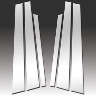 Mirror Finish Stainless Steel Pillar Post 6-Pc 1994 - 2001 BMW 7-Series-E38