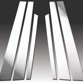 Mirror Finish Stainless Steel Pillar Post 6-Pc 2002 - 2008 BMW 7-Series-E65