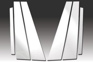 Mirror Finish Stainless Steel Pillar Post 6-Pc 2009 - 2016 BMW 7-Series-F01