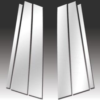 Mirror Finish Stainless Steel Pillar Post 6-Pc 2003 - 2007 BMW X3-E83