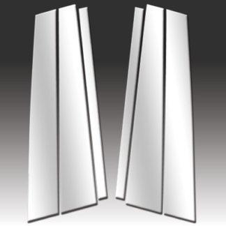 Mirror Finish Stainless Steel Pillar Post 6-Pc 2000 - 2006 BMW X5-E53