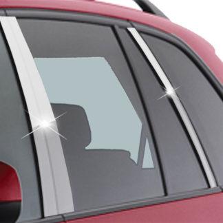 Mirror Finish Stainless Steel Pillar Post 6-Pc 2007 - 2013 BMW X5-E70