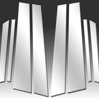 Mirror Finish Stainless Steel Pillar Post 8-Pc 2011 - 2014 BMW X6-E71