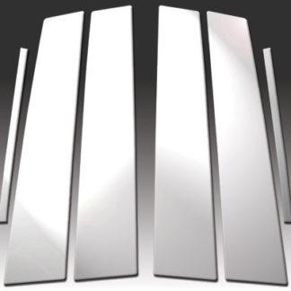 Mirror Finish Stainless Steel Pillar Post 6-Pc 2010 - 2016 Buick LaCrosse