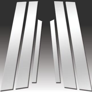 Mirror Finish Stainless Steel Pillar Post 6-Pc 2000 - 2005 Buick LeSabre