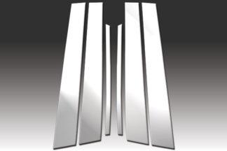 Mirror Finish Stainless Steel Pillar Post 6-Pc 1997 - 2005 Buick Park-Avenue