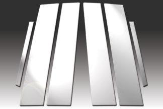 Mirror Finish Stainless Steel Pillar Post 6-Pc 2011 - 2017 Buick Regal