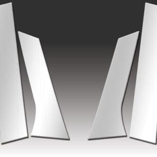 Mirror Finish Stainless Steel Pillar Post 6-Pc 2012 - 2016 Buick Verano