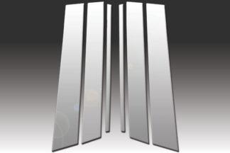 Mirror Finish Stainless Steel Pillar Post 6-Pc 2000 - 2005 Cadillac DeVille