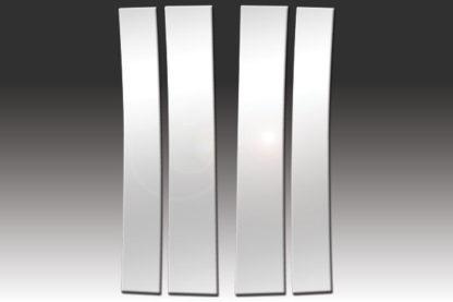 Mirror Finish Stainless Steel Pillar Post 4-Pc 2007 - 2014 Cadillac Escalade
