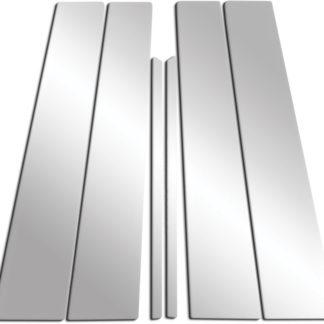 Mirror Finish Stainless Steel Pillar Post 6-Pc 1999 - 2004 Cadillac SeVille