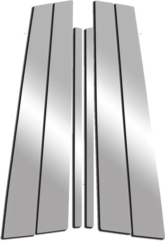 Mirror Finish Stainless Steel Pillar Post 6-Pc 2004 - 2009 Cadillac SRX