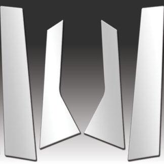 Mirror Finish Stainless Steel Pillar Post 6-Pc 2010 - 2016 Cadillac SRX