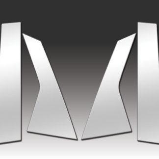 Mirror Finish Stainless Steel Pillar Post 6-Pc 2013 - 2016 Cadillac XTS