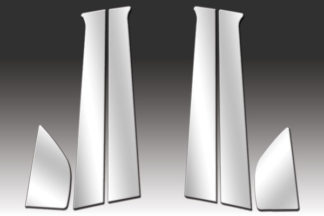 Mirror Finish Stainless Steel Pillar Post 6-Pc 2008 - 2011 Chevy Aveo-Sedan