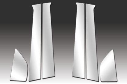 Mirror Finish Stainless Steel Pillar Post 6-Pc 2008 - 2011 Chevy Aveo-Sedan