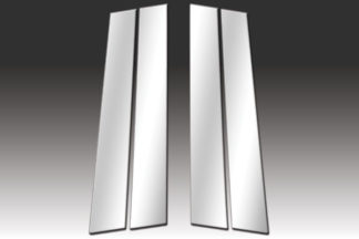 Mirror Finish Stainless Steel Pillar Post 4-Pc 2004 - 2007 Chevy Malibu