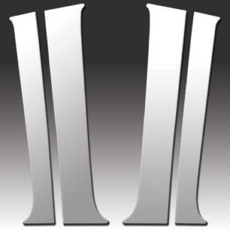 Mirror Finish Stainless Steel Pillar Post 4-Pc 2000 - 2006 Chevy Suburban