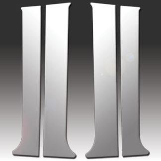 Mirror Finish Stainless Steel Pillar Post 4-Pc 2007 - 2014 Chevy Suburban