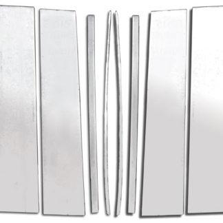 Mirror Finish Stainless Steel Pillar Post 10-Pc 2015 - 2016 Chevy Suburban
