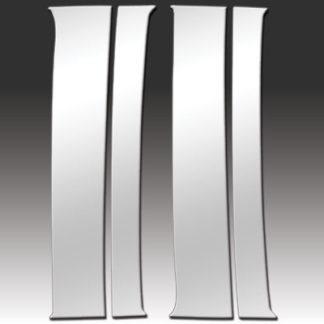 Mirror Finish Stainless Steel Pillar Post 4-Pc 1992 - 1999 Chevy Suburban