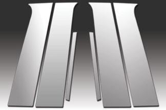 Mirror Finish Stainless Steel Pillar Post 6-Pc 2011 - 2015 Chevy Volt