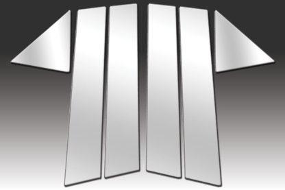 Mirror Finish Stainless Steel Pillar Post 6-Pc 2005 - 2010 Chrysler 300/300C