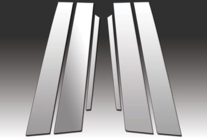 Mirror Finish Stainless Steel Pillar Post 6-Pc 2011 - 2016 Chrysler 300/300C