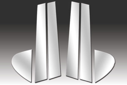 Mirror Finish Stainless Steel Pillar Post 6-Pc 1999 - 2004 Chrysler 300M