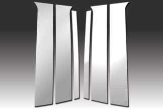 Mirror Finish Stainless Steel Pillar Post 6-Pc 2006 - 2009 Chrysler Aspen