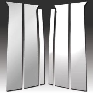 Mirror Finish Stainless Steel Pillar Post 6-Pc 2006 - 2009 Chrysler Aspen