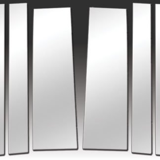 Mirror Finish Stainless Steel Pillar Post 6-Pc 2008 - 2016 Chrysler Town&Country