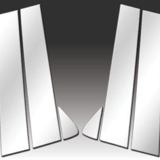 Mirror Finish Stainless Steel Pillar Post 6-Pc 2011 - 2016 Dodge Durango