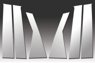 Mirror Finish Stainless Steel Pillar Post 6-Pc 2009 - 2016 Dodge Journey