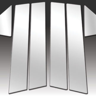 Mirror Finish Stainless Steel Pillar Post 6-Pc 2005 - 2009 Dodge Magnum