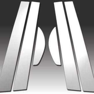 Mirror Finish Stainless Steel Pillar Post 6-Pc 2000 - 2005 Dodge Neon