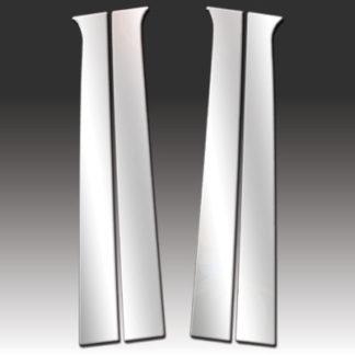 Mirror Finish Stainless Steel Pillar Post 4-Pc 2002 - 2008 Dodge Ram-CrewCab/QuadCab