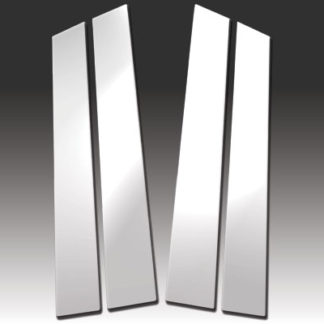 Mirror Finish Stainless Steel Pillar Post 4-Pc 2001 - 2006 Dodge Stratus