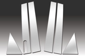 Mirror Finish Stainless Steel Pillar Post w/ Keypad Cutout 6-Pc 2005 - 2007 Ford Five-Hundred