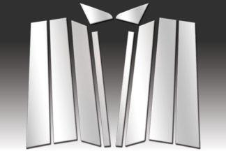 Mirror Finish Stainless Steel Pillar Post w/ Mirror Post 10-Pc 2007 - 2014 Ford Edge