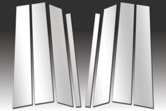 Mirror Finish Stainless Steel Pillar Post 8-Pc 2007 - 2014 Ford Edge