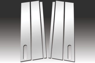 Mirror Finish Stainless Steel Pillar Post 4-Pc with Keypad Cutout 2007 - 2010 Ford Explorer-Sport-Trac
